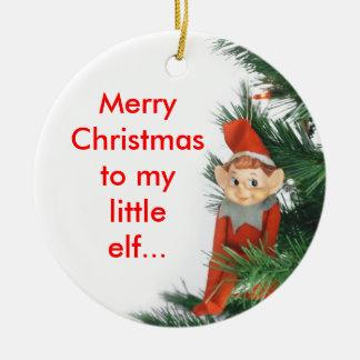 Little Elf Ceramic Ornament