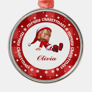 Little Elf Doll Custom Christmas Ornaments