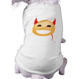Little Emoji Devil Sleeveless Dog Shirt