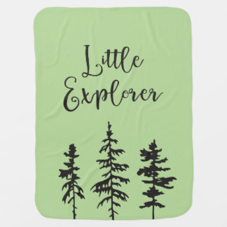 Little Explorer, Woodland Trees Baby Blanket
