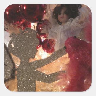 Little Fairy Elf & Angel Square Sticker