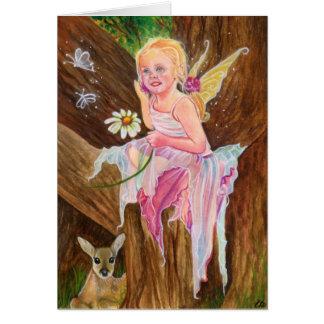 Little fairy fawn spring card