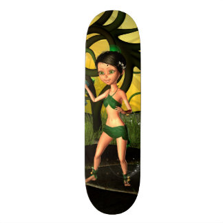 Little fairy playing in a magical forest custom skate board