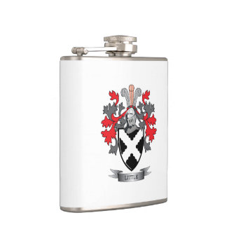 Little Family Crest Coat of Arms Hip Flask