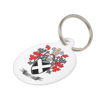 Little Family Crest Coat of Arms Pet Tag