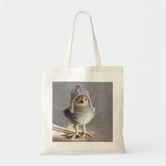 Little Felt Birdie with Hat Tote Bag