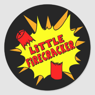 Little Firecracker Round Sticker