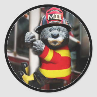 Little Firefighter Classic Round Sticker