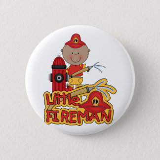 Little Fireman African American T-shirts and Gifts 6 Cm Round Badge