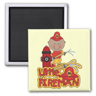 Little Fireman African American T-shirts and Gifts Refrigerator Magnets