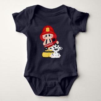 Little Fireman baby boy bodysuit