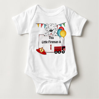 Little Fireman Dalmation - Customize Baby Bodysuit