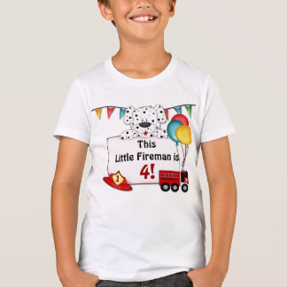 Little Fireman Dalmation - Customize T-Shirt
