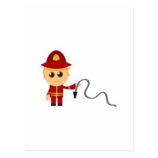 Little Fireman Postcard