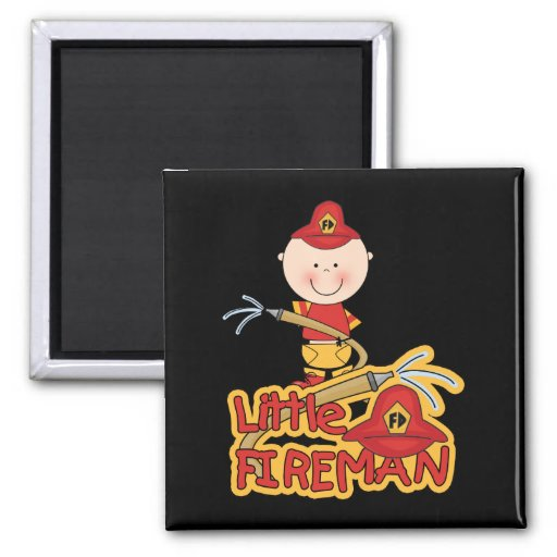 Little Fireman Tshirts and Gifts Refrigerator Magnets