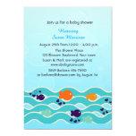 Little Fish, Baby Shower 13 Cm X 18 Cm Invitation Card
