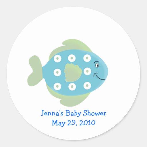 Little Fishy TROPICAL FISH Favor Sticker