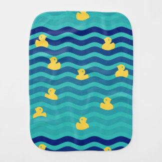 Little Floating Yellow Ducks Baby Burp Cloth