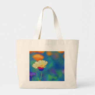 Little Flower In field Large Tote Bag