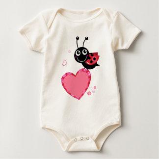 Little flying Red bee : KIDS DESIGN Baby Bodysuit