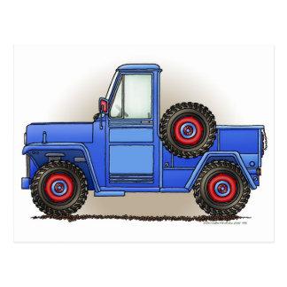 Little Four Wheel Pickup Truck Postcard