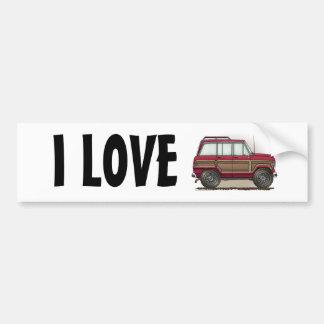 Little Four Wheel Station Wagon Bumper Sticker