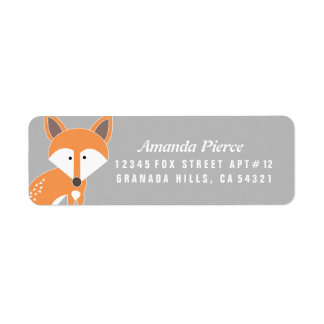 Little Fox Address Labels