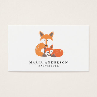 Little Fox Babysitter Business Cards
