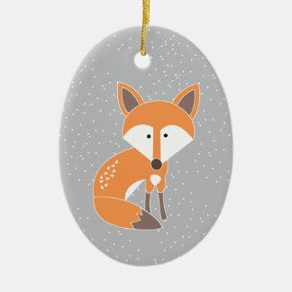 Little Fox Ceramic Ornament