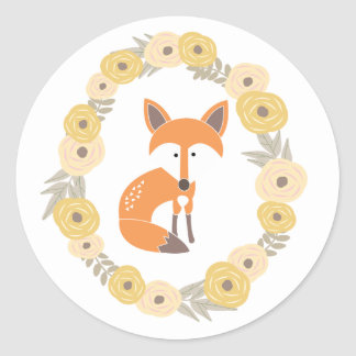 Little Fox Classic Round Sticker
