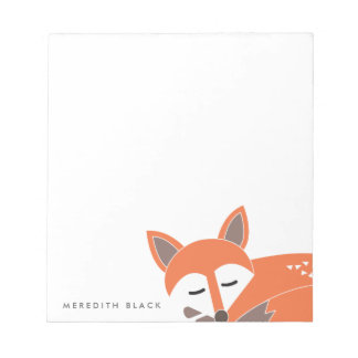 Little Fox Personalized Notepad