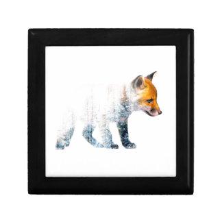 Little fox small square gift box