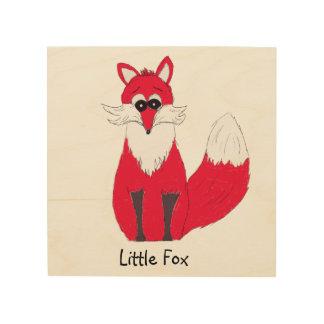 Little Fox Wooden Print Wood Print