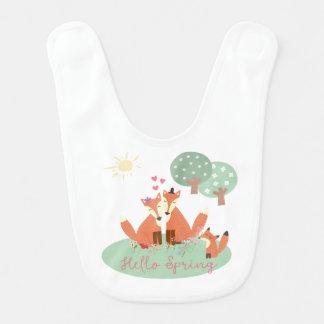 Little Foxes- Hello Spring Bib