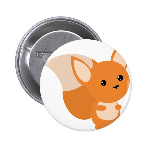Little Foxy Poo Pinback Button