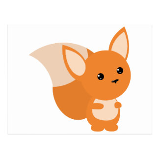 Little Foxy Poo Postcard