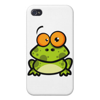 Little Frog Cartoon Character Cases For iPhone 4