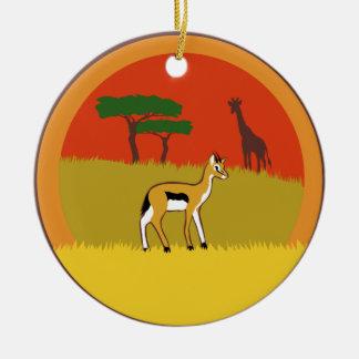 Little Gazelle Ceramic Ornament