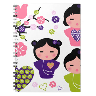 Little Geisha artistic T-Shirts and products Notebook