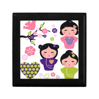 Little Geisha artistic T-Shirts and products Small Square Gift Box