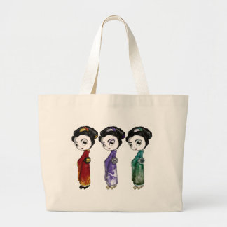 Little Geisha Large Tote Bag