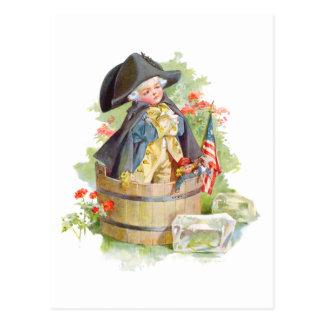 Little George Washington Crossing the Delaware Postcard