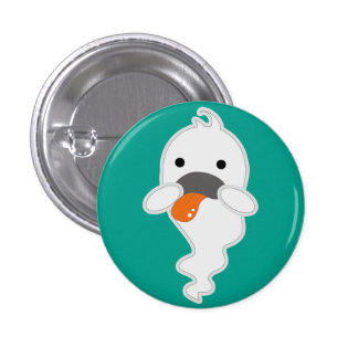 Little ghost 3 cm round badge
