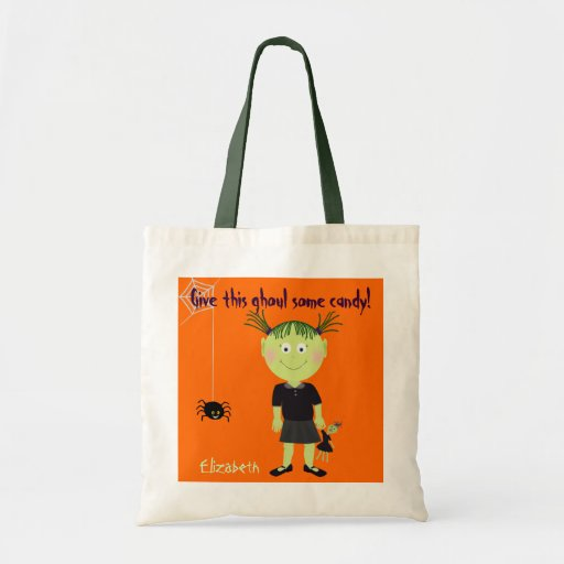 Little Ghoul Halloween Trick or Treat Tote Bag