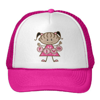 Little Girl 5th Birthday Tshirts and Gifts Cap
