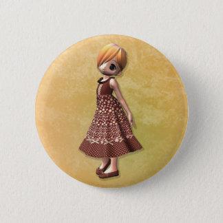Little Girl 6 Cm Round Badge