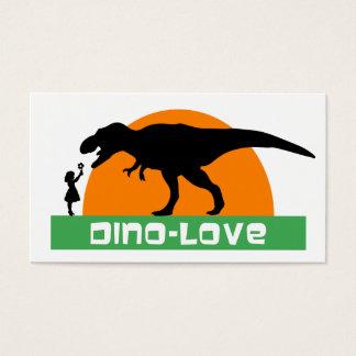Little girl and dinosaur