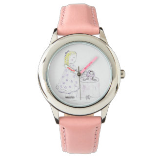 Little Girl and Doll Tea Party Watch