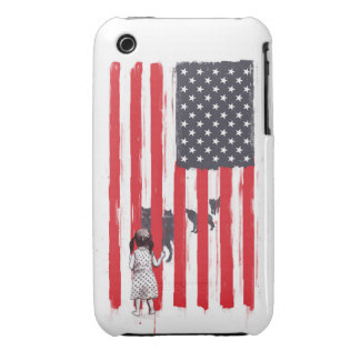 Little girl and wolves iPhone 3 case