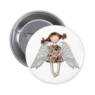 Little Girl Angel Button